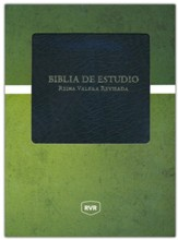 Biblia de Estudio RVR, Piel Imitada Negra  (RVR Study Bible, Soft Leather-Look, Black)