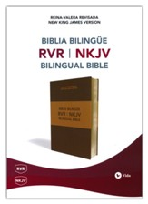 Biblia Bilingüe RVR-NKJV, Piel Imit., Marrón  (RVR-NKJV Bilingual Bible, Imit. Leather, Brown)
