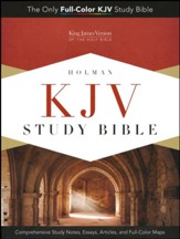 KJV Study Bible, Black Genuine Leather, Indexed