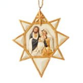 Nativity Ornament in Black and Gold