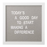 Letter Board Set, Gray