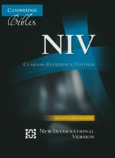 NIV Clarion Reference Bible, calf split leather, black