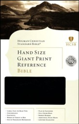 HCSB Hand Size Giant Print Reference Bible, Black Simulated Leather