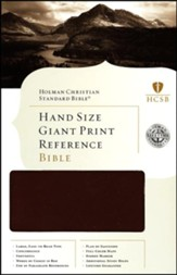 HCSB Hand Size Giant Print Reference Bible, Brown Simulated Leather