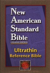 NASB Ultrathin Reference Bible--genuine leather, burgundy