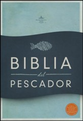 RVR 1960 Biblia del Pescador, Simil Piel de Lujo Caoba  (Fisher of Men Bible, Mahogany)