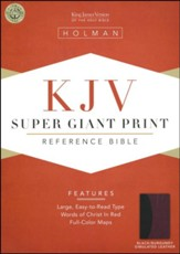 KJV Super Giant Print Reference Bible, Black & Burgundy Simulated Leather - Slightly Imperfect