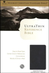 HCSB UltraThin Reference Bible, Black Mantova imitation leather, indexed
