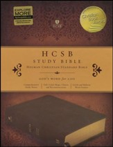 HCSB Study Bible, Brown Mantova imitation leather, indexed - Imperfectly Imprinted Bibles