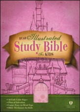 HCSB Illustrated Study Bible for Kids, Pink imitation leather