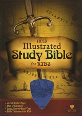 HCSB Illustrated Study Bible for Kids, Blue imitation leather