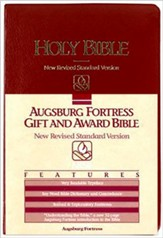 NRSV Gift & Award Bible, Burgundy Imitation Leather
