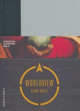CSB Worldview Study Bible, Gray and Black Cloth Over Board