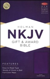 NKJV Gift and Award Bible, Purple Imitation Leather