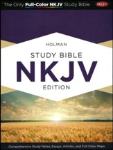 NKJV Holman Study Bible, Eggplant and Tan LeatherTouch