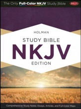 NKJV Holman Study Bible, Mahogany LeatherTouch, Thumb-Indexed