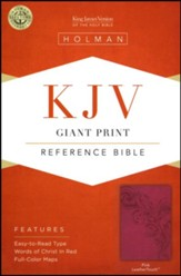 KJV Giant Print Reference Bible, Pink LeatherTouch - Imperfectly Imprinted Bibles