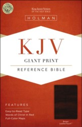 KJV Giant Print Reference Bible, Brown LeatherTouch, Thumb-Indexed