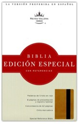 Biblia RVR 1960 Edicion Especial Ref., Piel Simil Oro/Marron  (RVR 1960 Special Ref. Bible, LeatherTouch Gold/Brown) - Slightly Imperfect
