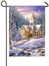 Winter Chapel Satin Flag, Small