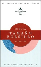 Biblia Tam. Bolsillo Ultrafina RVR 1960, Piel Imit. Rosada/Azul  (RVR 1960 Pocket-Size Ultrathin Bible, I. Leather Pink/Blue)