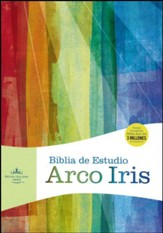 RVR 1960 Biblia de Estudio Arco Iris, chocolate símil piel con Índice, RVR 1960 Rainbow Study Bible, Brown LeatherTouch, Thumb-Indexed