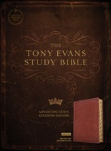 CSB Tony Evans Study Bible--soft  leather-look, British tan (indexed)