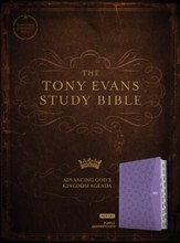CSB Tony Evans Study Bible--soft leather-look, purple (indexed)