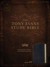 CSB Tony Evans Study Bible--genuine leather, black - Imperfectly Imprinted Bibles