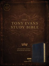CSB Tony Evans Study Bible--genuine leather, black (indexed)
