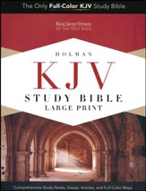 KJV Study Bible Large Print Edition, Saddle Brown LeatherTouch, Thumb-Indexed