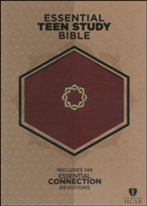 HCSB Essential Teen Study Bible, Walnut LeatherTouch