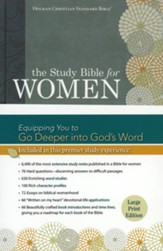 HCSB Study Bible for Women, Large-Print Edition--hardcover, indexed