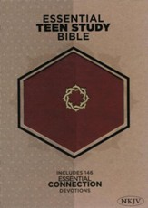 NKJV Essential Teen Study Bible, Walnut LeatherTouch