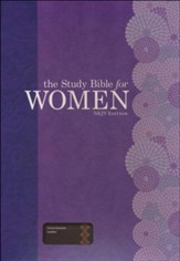The Study Bible for Women, NKJV Edition, Cocoa Genuine Leather - Imperfectly Imprinted Bibles