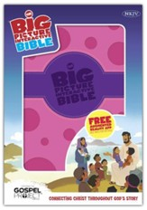 NKJV Big Picture Interactive Bible, Purple and Pink Polka Dot LeatherTouch