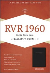 Biblia para Regalos y Premios RVR 1960, Piel Imit. Negro  (RVR 1960 Gift & Award Bible, Black Imitation Leather)