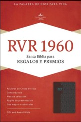 RVR 1960 Biblia para Regalos y Premios, café y turquesa símil piel, RVR 1960 Gift and Award Bible, Coffee and Turquoise LeatherTouch