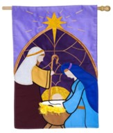 Nativity Applique Flag, Large