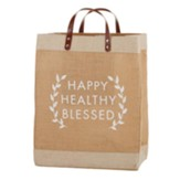 Happy Healthy Blessed Farmer's Market Tote Bag
