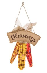 Harvest Blessings Burlap Door Hanger