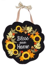 Bless Our Home Burlap Door Hanger