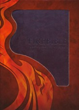 Modern English Version (MEV) Fire Bible--imitation leather, brown - Slightly Imperfect