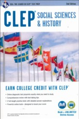 CLEP Social Sciences and History  Book plus online