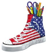 Sneaker, American Flag, 3D Puzzle, 108 Pieces