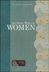 The Study Bible for Women, HCSB Edition, Smoke and Slate LeatherTouch, Thumb-Indexed
