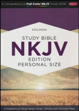 NKJV Holman Study Bible Personal Size, Smoke and Slate LeatherTouch - Slightly Imperfect
