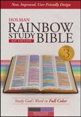 KJV Rainbow Study Bible, Brown and Lavender LeatherTouch, Thumb-Indexed
