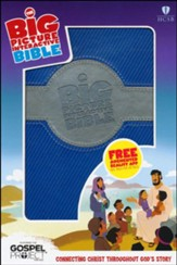 HCSB Big Picture Interactive Bible, Blue and Silver LeatherTouch
