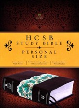 HCSB Personal Size Study Bible, Espresso and Teal LeatherTouch
